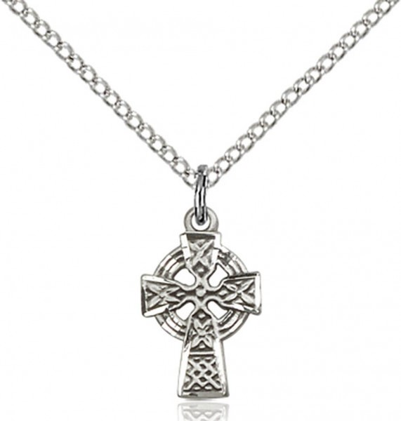 Baby Celtic Cross Pendant - Sterling Silver
