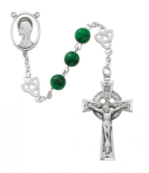 Celtic Knot Rosary - Green