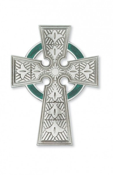 Celtic Pewter Wall Cross, 4.75 inch - Silver