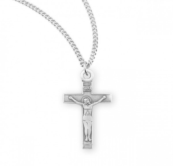 Child Basic Crucifix Necklace - Sterling Silver