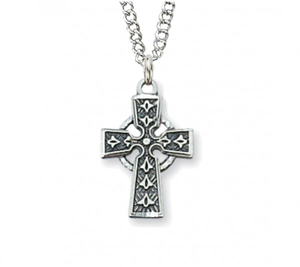 Child Size Celtic Cross Sterling Silver - Silver