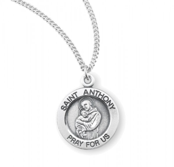 Child's St. Anthony Necklace - Sterling Silver