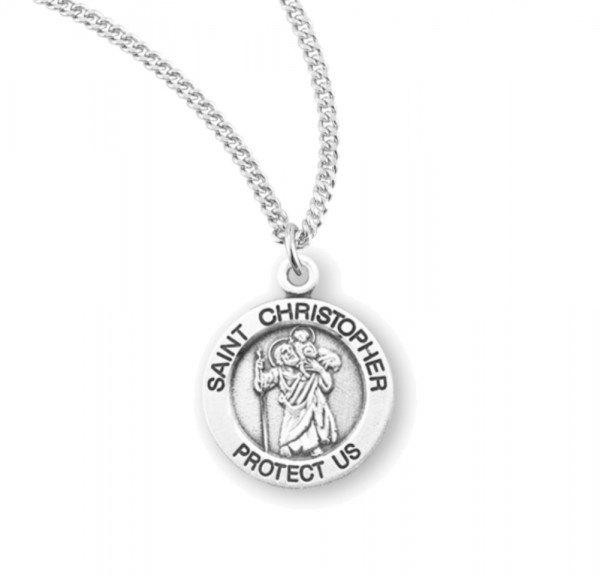 Child's St. Christopher Necklace - Sterling Silver