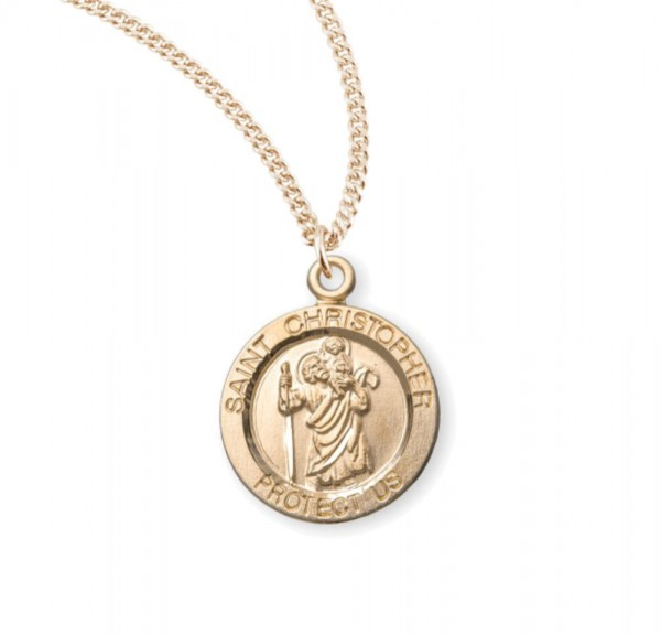Child's St. Christopher Necklace - Gold Plated