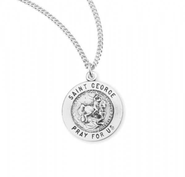 Child's St. George Necklace - Sterling Silver
