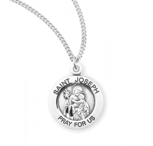 Child's St. Joseph Necklace - Sterling Silver