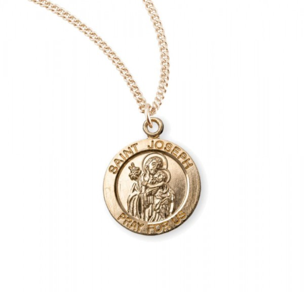 Child's St. Joseph Necklace - Gold Plated