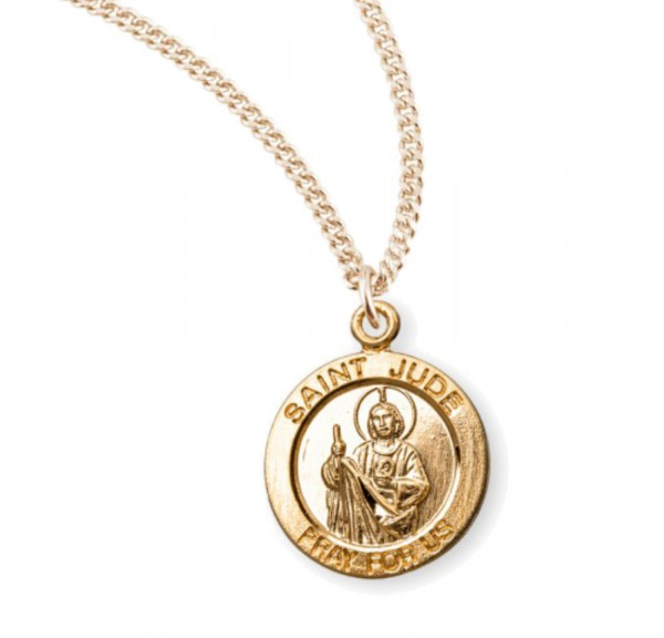 Child's St. Jude Necklace - Gold Plated