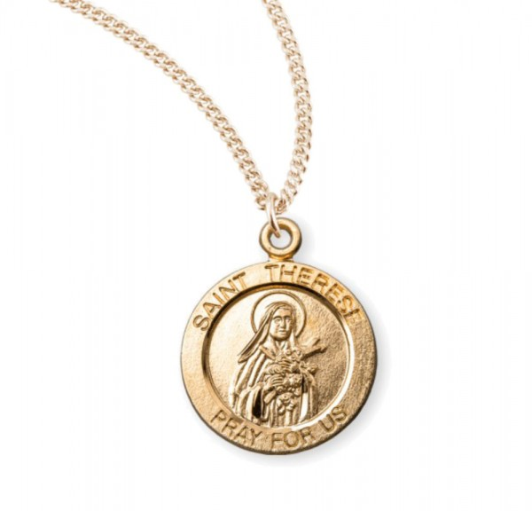 Child's St. Therese Necklace - Gold Plated