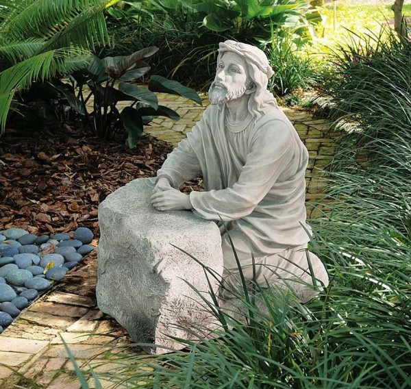Christ In The Garden Of Gethsemane Statue   Stone