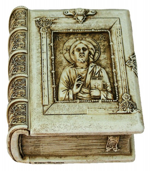 Christ the Teacher Keepsake Box - Antique White Finish