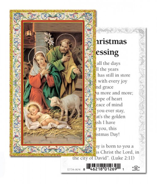 Christmas Blessing Christmas Card - Paper - Full Color