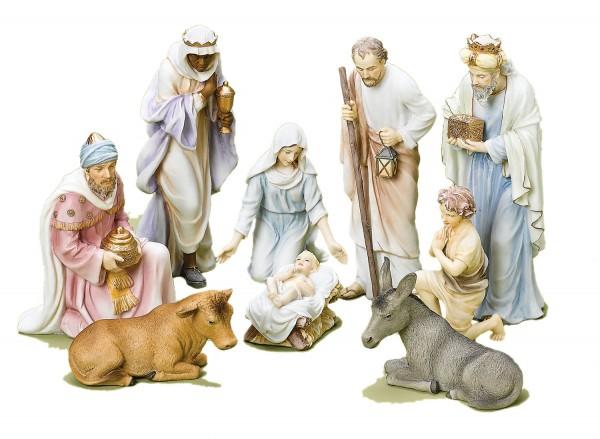 Christmas Nativity Set in Pastel Colors, 10 from Catholic Faith ...