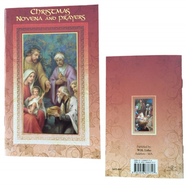 Christmas Novena Prayer Pamphlet - Pack of 10 - Red | Gold