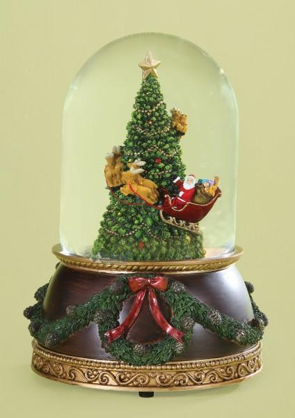 christmas tree musical snow globe 7 34h - Christmas Musical Snow Globes