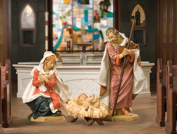 "Church Nativity Set 50"" - Holy Family - Full Color"