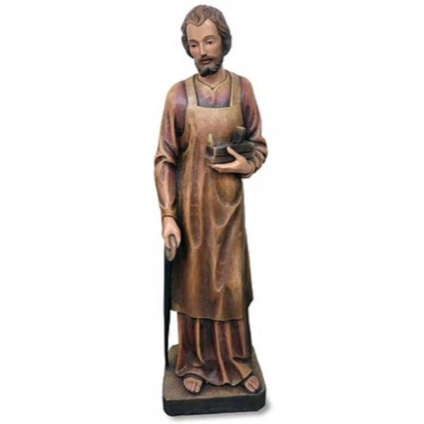 Church Size Saint Joseph the Worker 48.5 Inch High Statue - Full Color