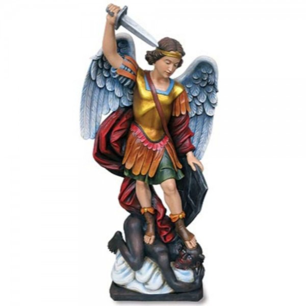 Church Size Saint Michael 48 Inch High Statue - Full Color