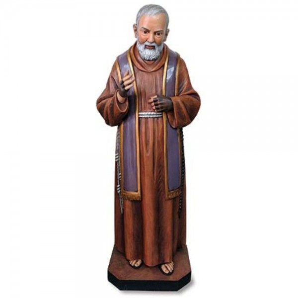 Church Size Saint Pio 48 Inch High Statue - Full Color
