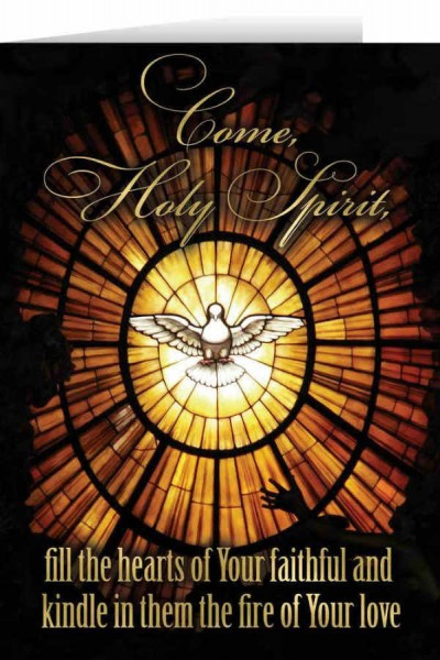 Come Holy Spirit Confirmation Greeting Card - Black