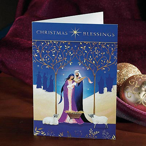 Contemporary Holy Family Christmas Card Set from Catholic Faith ...