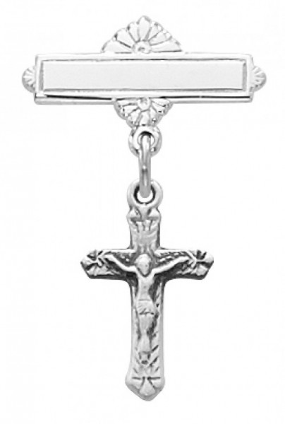 Crucifix Baby Pin - Sterling Silver - Silver