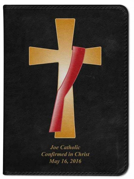 Deacon Cross Cover Catholic Bible - Black