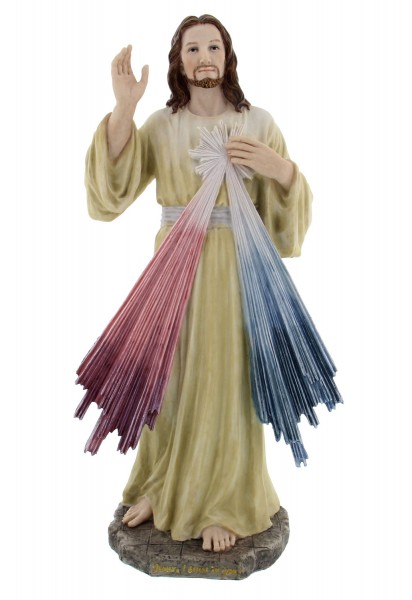 Divine Mercy Statue - 12 Inches - Multi-Color