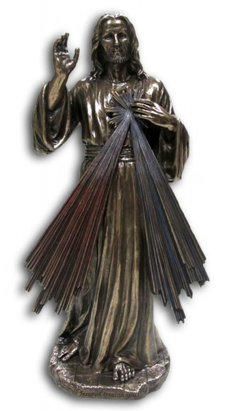 Divine Mercy Statue - 12 Inches - Bronze