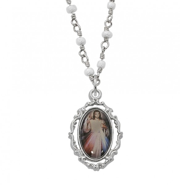 Divine mercy of jesus necklace divine mercy of jesus necklace silver tone aloadofball Gallery