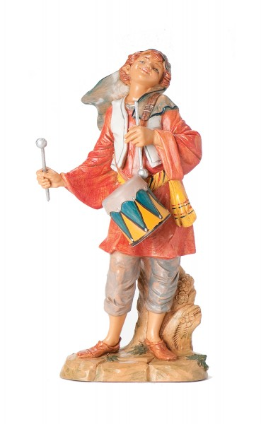 Drummer Boy Statue - 12 inch - Multi-Color