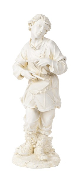 "Drummer Boy Statue 24"" H for 27"" Scale Nativity Set - Natural Stone"