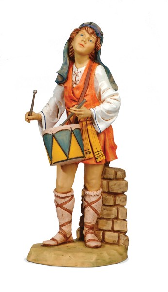 "Drummer Boy Statue 27""H for 27"" Scale Nativity Set - Multi-Color"