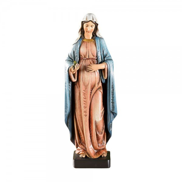 Expectant Mary Mother of God 8 Inch High Statue - Full Color