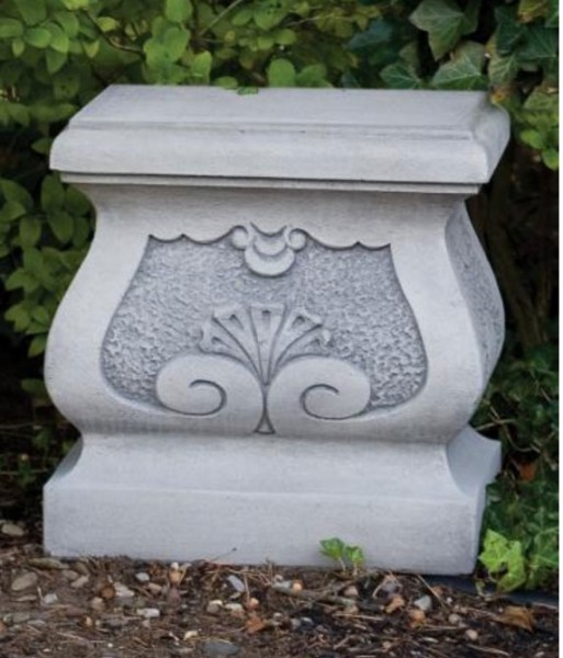 Fancy Square Pedestal Church Size - Old Stone Finish