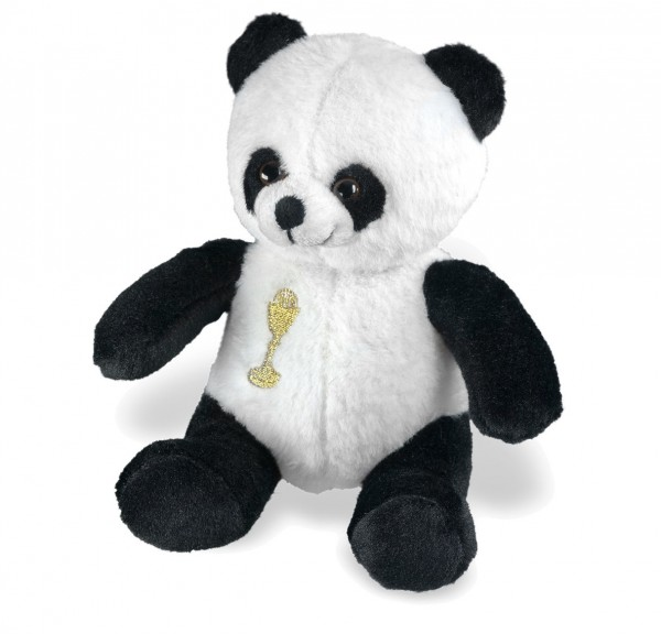 First Communion Panda Bear - Black | White