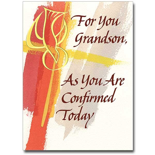 For You GRANDSON as You are Confirmed Today - Multi-Color