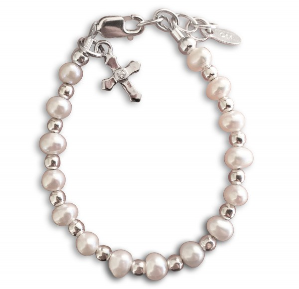 and cross store sku freshwater pearl products bracelet baptism white