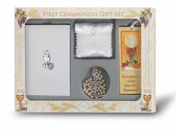 Girl's 6 Piece Chalice Deluxe Communion Gift Set - Multi-Color