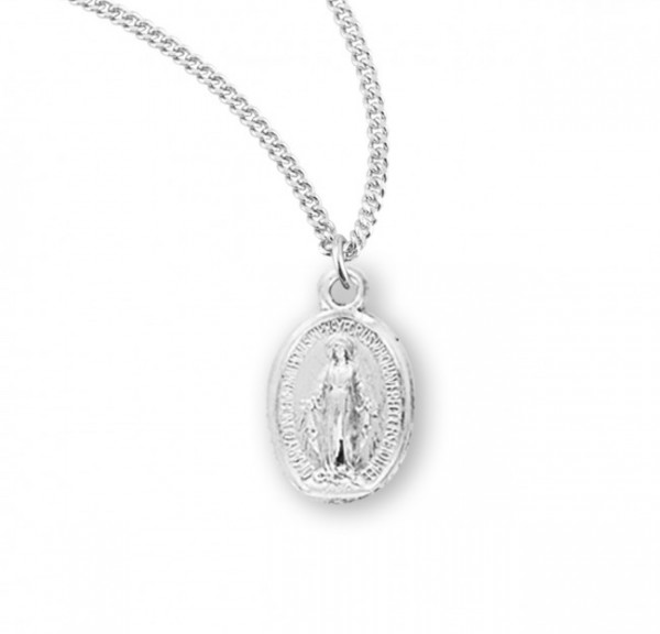 Girl's Miraculous Medal Necklace Sterling Silver - Sterling Silver