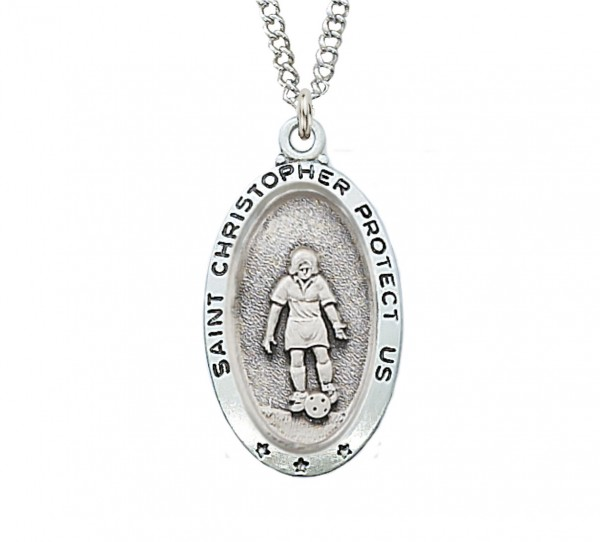 Girls Soccer Necklace - Sterling Silver