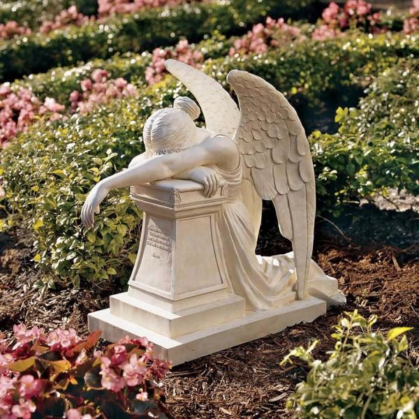 Grieving angel memorial statue - Angel statue for garden ...