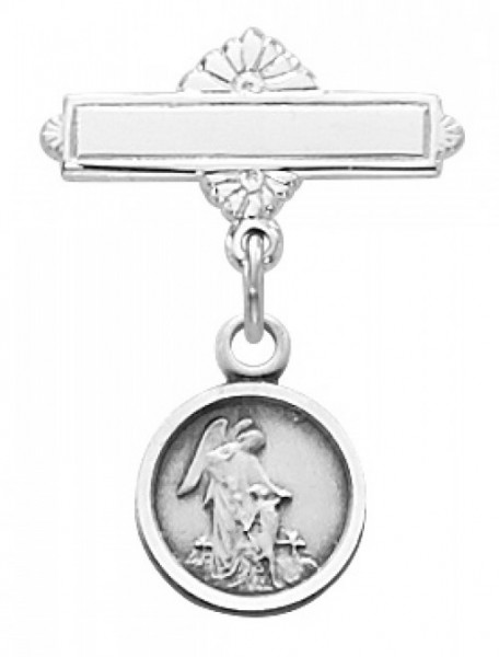 Guardian Angel Baby Pin - Sterling Silver - Silver