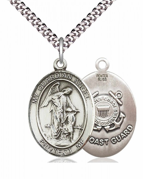 Guardian Angel Coast Guard Medal - Pewter
