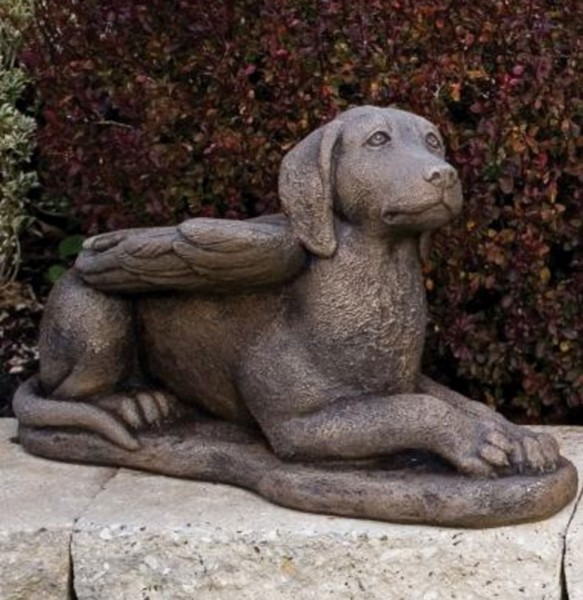 Guardian Angel Dog Statue 11.75 Inches - Classic Iron Finish