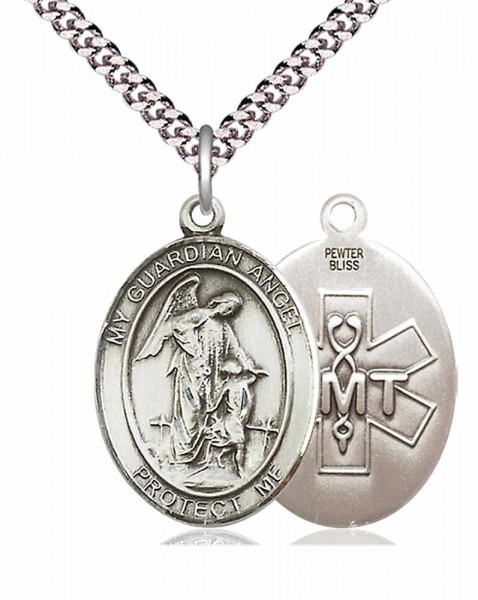 Guardian Angel EMT Medal - Pewter