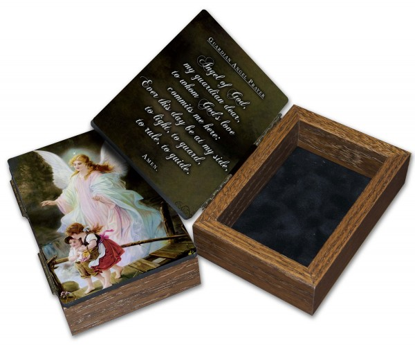 Guardian Angel Keepsake Box - Brown