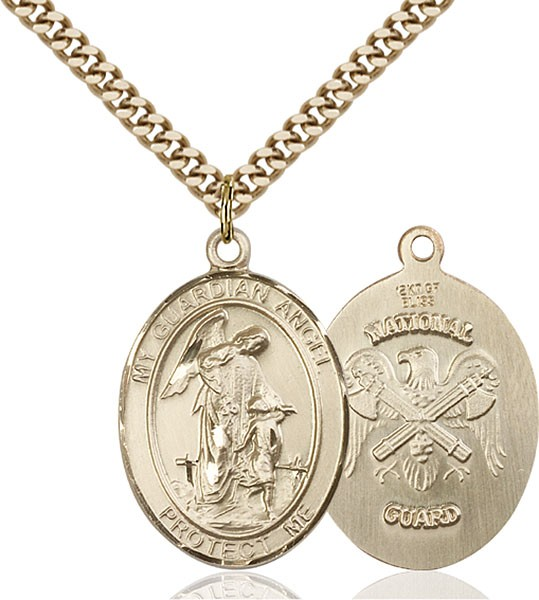 Guardian Angel National Guard Medal - 14KT Gold Filled