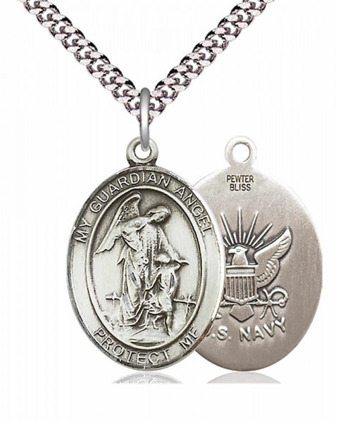 Guardian Angel Navy Medal - Pewter