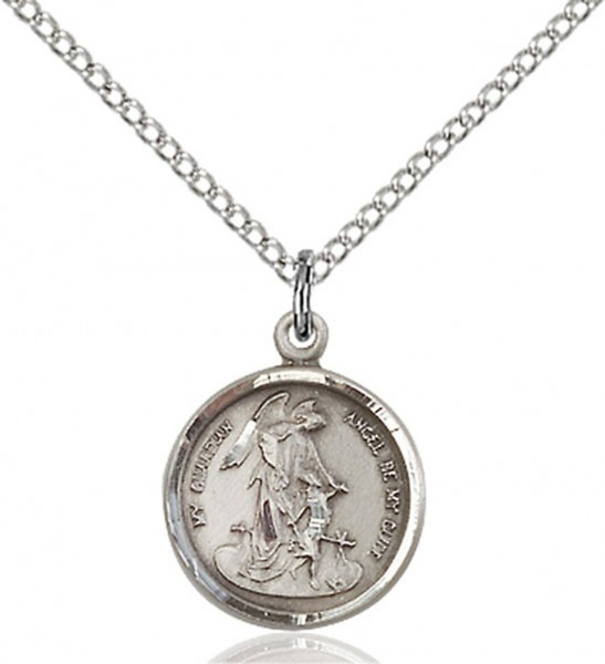 Petite Guardian Angel Pendant - Sterling Silver